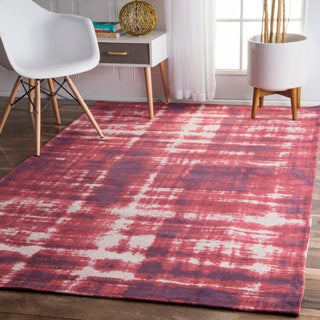 nuLOOM Contemporary Casual Overdyed Red Rug (7'6 x 9'6)