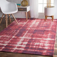 nuLOOM Contemporary Casual Overdyed Red Rug - 7'6 x 9'6
