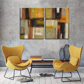 Ready2HangArt 'New Earth I/II' by Norman Wyatt Jr. 2-piece Wrapped Canvas Set