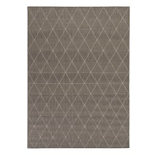Berrnour Home Summer Collection Trellis Design Jute Backing Indoor/Outdoor Runner Rug (2'7 x 7'0)