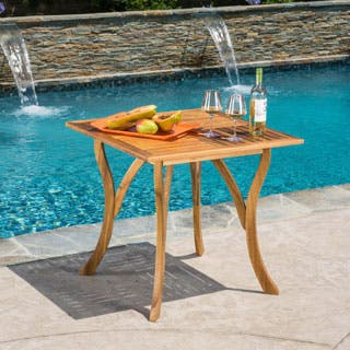Hermosa Outdoor Acacia Wood Square Dining Table by Christopher Knight Home|https://ak1.ostkcdn.com/images/products/P18680236a.jpg?impolicy=medium