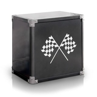 Furniture of America Born Racer Metal 2-shelf Nightstand