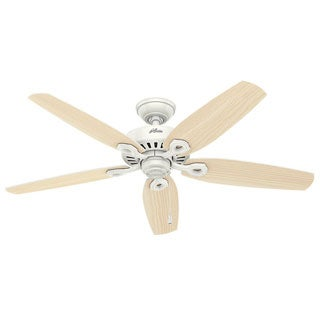 Hunter Fan Builder Elite Snow White 52-inch Fan With 5 Snow White Blades