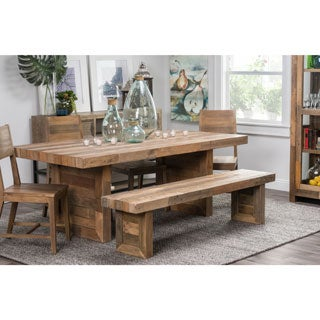 Kosas Home Oscar Natural Recovered Shipping Pallets 82-inch Hand-crafted Dining Table