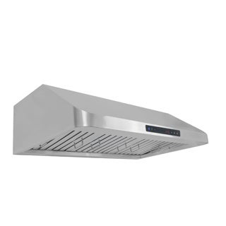 Cosmo COS-QS90 36-inch 900 CFM Ducted Under Cabinet Stainless Steel Range Hood
