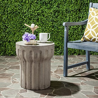 Safavieh Vesta Concrete Indoor/ Outdoor Accent Table (Dark Grey)
