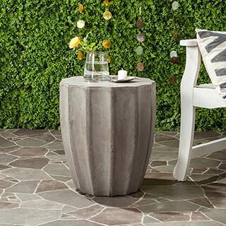 Safavieh Jaslyn Concrete Indoor/ Outdoor Accent Table (Dark Grey)