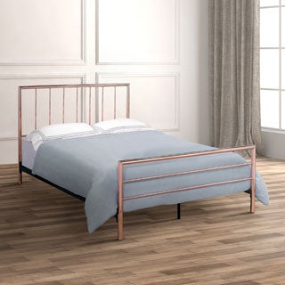 Furniture of America Hollander Contemporary Rose Gold Metal Platform Bed