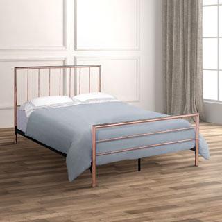 Furniture of America Hollander Contemporary Rose Gold Metal Platform Bed
