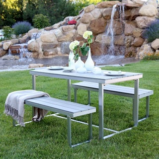 Grey All-Weather 3-Piece Dining Set