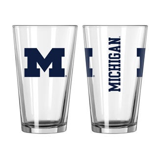 University of Michigan Wolverines Game Day Pint Glass (Set of 2)