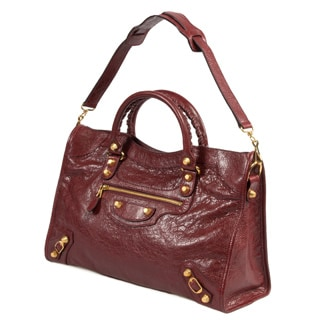 Balenciaga Giant 12 Gold City Medium Rouge Cerise Leather Handbag