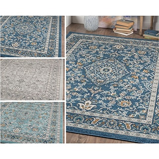 Alise Rugs Kinsley Blue/Grey Area Rug (7'10 x 10'3)