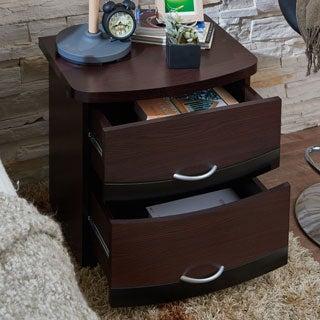Furniture of America Kindred Modern Espresso 2-drawer Nightstand
