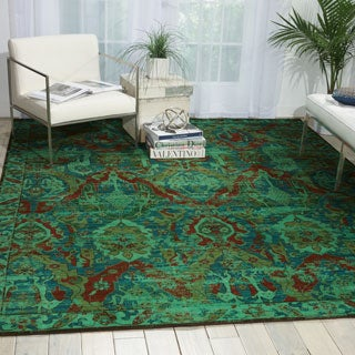 Nourison Timeless Turquoise Rug (7'9 x 9'9)