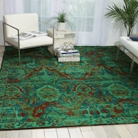 Nourison Timeless Turquoise Rug - 7'9 x 9'9