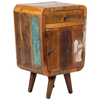 Wanderloot Route 66 Mid-century Modern Reclaimed Wood End Table