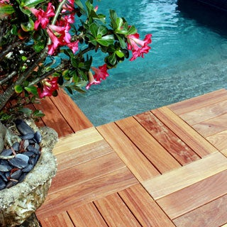 FlexDeck2.0 Hardwood 18-inch x 18-inch DIY Snap-in Deck Tiles