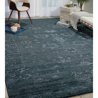 Nourison Silk Shadows Blue Stone Rug (8'6 x 11'6)