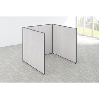 Bush Business Furniture ProPanels 72W x 72D x 66H Open Cubicle Configuration