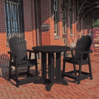 Highwood Eco-friendly Synthetic Wood Hamilton 3-piece Round Counter-height Dining Set