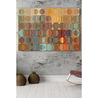 Mark Lawrence 'Circles & Squares 15.' Giclee Stretched Canvas Wall Art