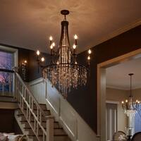 Feiss Cascade 12 Light Heritage Bronze Chandelier