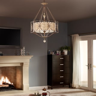 Feiss Marcella 3 Light British Bronze / Oxidized Bronze Chandelier
