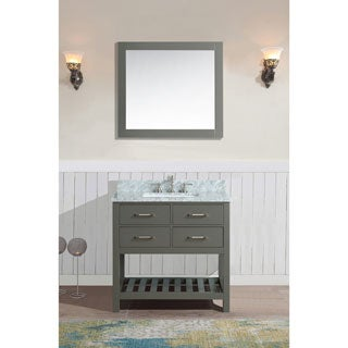 Manhattan Grey Birchwood Single Bathroom Vanity Set With Mirror