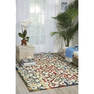 Nourison Home and Garden Multicolor Indoor/ Outdoor Rug (7'9 x 10'10)