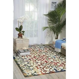 Nourison Home and Garden Multicolor Indoor/ Outdoor Rug (7'9 x 10'10)
