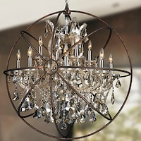 Shop Foucaults Orb Crystal Iron Light Chandelier Free Shipping - Orb chandelier with crystals