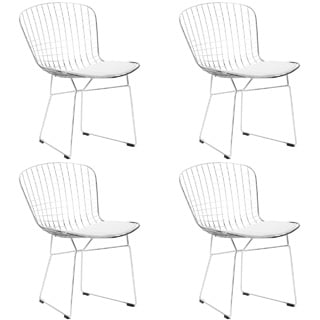 Poly and Bark Morph EM-108-BLK-X4 Chrome Wire Dining Chair (Set of 4)