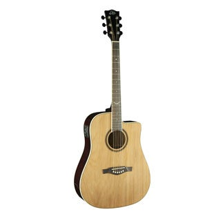 Eko Guitars NXT Series Dreadnought Cutaway Natural Acoustic-Electric Guitar