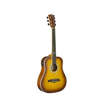 Eko Guitars 06217131 TRI Series Honey Burst Mahogany/Spruce/Rosewood Mini Dreadnought Acoustic/Electric Guitar