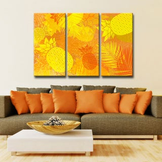 Ready2HangArt 'Pineapple Party' 3-PC Wrapped Canvas Art Set