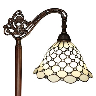 Curtesia 62-inch 1-light Jeweled Tiffany-style Floor Lamp