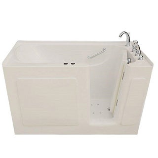 Signature Walk-in Biscuit 47 x 30-inch Whirlpool and Air Combo Bath