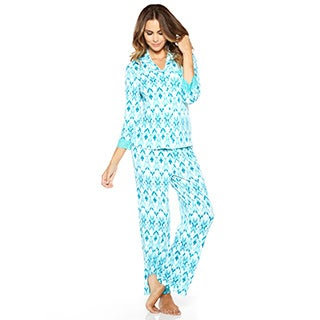 Rhonda Shear Women's Colorful Printed Pajama Set (More options available)