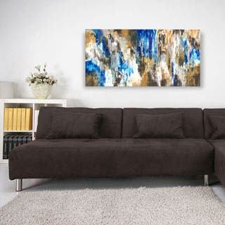 ArtMaison Canada. Sanjay Patel, Blue Forest Abstract, Canvas Print Canvas Wall Art Decor, Gallery Wrapped 34X46