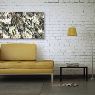 Hobbitholeco. Sanjay Patel, Dark Forest Abstract, Gel Brush Finish Canvas Wall Art Decor, Gallery Wrapped 30X40
