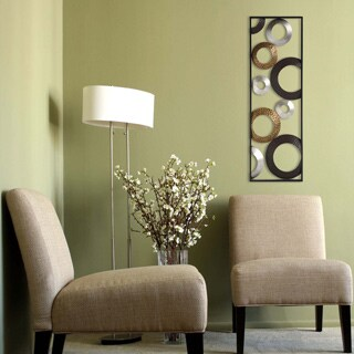 Clay Alder Home Eleventh Metallic Geometric Panel Wall Decor