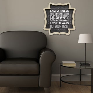 Stratton Home Decor Family Rules Wall Art