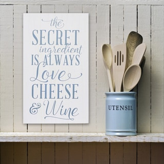 Stratton Home Decor 'Love Cheese Wine' Wall Art
