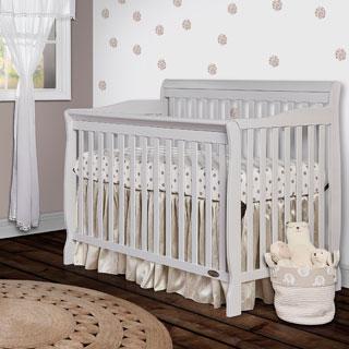 Dream On Me Grey Wood 5-in-1 Ashton Convertible Crib