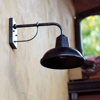 Tanner Brown Metal 1-light Exterior Light Fixture Made with Strong Forged Metal Rustic Outdoor Light Fixture