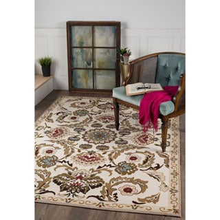 Alise Majolica Beige/ Brown Nylon Transitional Style Area Rug (5' x 7')