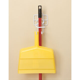 ClosetMaid White Stainless Steel Broom and Dust Pan Holder