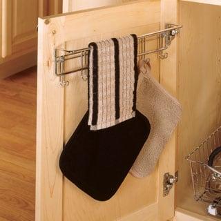 ClosetMaid Silver Chrome Steel 6-hook Towel Rack