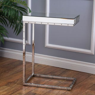 Christopher Knight Home Foothill Studded Mirrored End Table